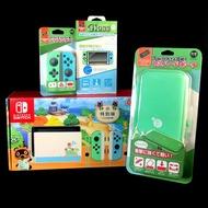 Nintendo Switch 主機+包+貼+保護套+類比套 動物之森 集合啦 動物森友會 限定機【續電加長】星光電玩