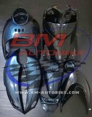 FINO ชุดสี ดำเทา เกแยก ฟรีค่าจัดส่ง เฟรมรถ กรอบรถ Yamaha ฟีโน่ สีตามรูป