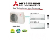 Mitsubishi Heavy Industries System 2 Aircon (3/4 Ticks) / Free Upgrade 9000BTU to 12000BTU