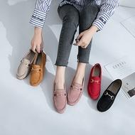 [จ่ายเงินปลายทางได้]รองเท้าคัชชู รองเท้าผู้หญิง รองเท้าลำลอง รองเท้าคัชชู รองเท้าแฟชั่นผู้หญิงสีทึบผู้หญิงกลางแจ้ง 040707