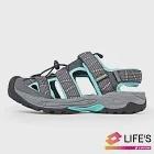 LOTTO 義大利 女 護趾排水運動涼鞋-US5灰/綠