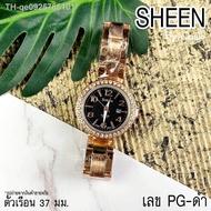 นาฬิกาผู้หญิง Casio SHEEN สายสแตนเลส Pink gold พิ้งโกลด์ Silver เงิน สินค้าใหม่พร้อมส่ง รูปสินค้าขายจริง