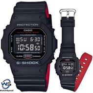 Casio G-Shock Black  Red Heritage Color Series Watch DW5600HR-1D/DW-5600HR-1D