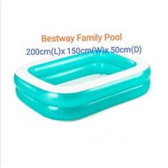 (L)200x(W)150x(D)50cm Tesco Bestway Inflatable Family Swimming Pool [Ready Stock]