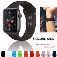 Soft Silicone Sport Strap Band Compatible with Apple Watch Band 38mm 40mm 42mm 44mm for Women Men Watchband  Bracelet Breathable smart watch Replacement Acce for i watch Bands Compatible with i Watch Series 5 Series 4 Series 3 Series 2 Series 1 black