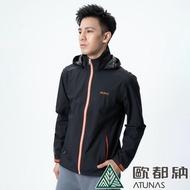 【ATUNAS 歐都納】男款GORE-TEX Paclite單件式外套(A1-G1807M黑/環保無氟/防風/防水/透氣/超輕/高爾夫球)