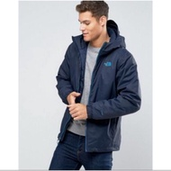 The North Face Mens Quest Insulated Jacket 灰 深藍 鋪棉外套