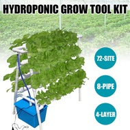 Hydroponic Pot Stand Vertical Hydroponic Nft System PVC Pipe 72 Holes 4Layer 8Tube Planting System Hydroponic Growth System Vertical Hydroponic Growth System