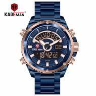 KADEMAN STAINLESS STEEL new men's alarm clock calendar multifunctional sports waterproof 1:1 Top Brand Luxury watch