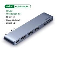 UGREEN ฮับ USB ประเภท C แบบคู่ แปลง USB-C ไปสู่ Multi USB 3.0 HDMI สำหรับ MacBook Pro Air อะแดปเตอร์ Thunderbolt 3