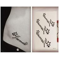 美式星星英文紋身貼HC-141【LA❇TATTOO】紋身貼紙 防水微刺青貼紙