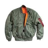 Alpha MA-1 美版 美國公司貨 飛行員 夾克 外套 雙面穿 空軍 防風 經典款 軍綠 L號 H682