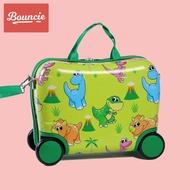 Bouncieเด็กสามารถนั่งและขี่รถเข็นเด็กชายขี่กระเป๋าเดินทางเด็กสาวการ์ตูนกระเป๋าเอกสาร