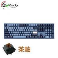 創傑 Ducky One 2  中文茶軸機械式鍵盤/Cherry軸/PBT/Good in blue/海波浪/DKON1808雙模配色