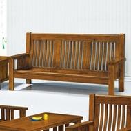 19 歡樂購-198型樟木色實木組椅-3人/三人木椅/木沙發 KH14-4