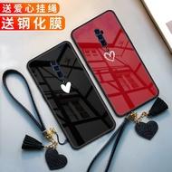 Oppo Reno 2 Love Phone Case Opal Reno 10x Zoom Edition Glass Case Oppo Reno