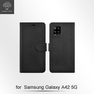Metal-Slim Samsung Galaxy A42 5G 多工卡匣 磁扣側掀 TPU可立皮套