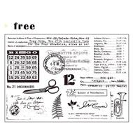 Moodtape第17彈「日付 」日期印章 矽膠印章 透明印章 手帳印章  時間印章 硅膠印章 萬年曆印章 星期印章