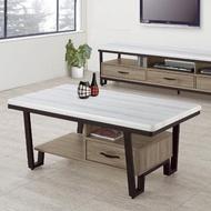 【H&D】奧蘿拉古香色石面大茶几(大茶几 茶几 客廳桌 桌 收納桌 置物桌)