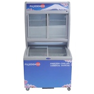 Fujidenzo 15 cu.ft Stacked Showcase Freezer and Chiller