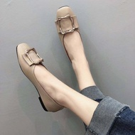 รองเท้าผู้หญิง รองเท้าคัชชู รองเท้าหุ้มส้น แฟชั่นใหม่แบบส้นแบน ส้นเตี้ย H22