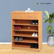 【米朵Miduo】2.7尺開放式兩抽塑鋼鞋櫃 開棚鞋櫃