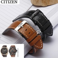 Citizen Sao Orange strap leather watch chain CITIZEN light kinetic energy BM8475