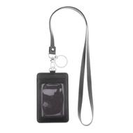 Footful ID ตราผู้ถือบัตรเชือกเส้นเล็กพรีเมี่ยมหนังแท้ทำสายคล้องคอหนักกับพวงกุญแจสำหรับโทรศัพท์มือถือที่สำคัญ
