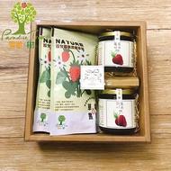 《樂園.樹》無農藥莓果禮盒(草莓果醬x2+草莓果乾x2+附提袋+加贈法式軟糖1包)