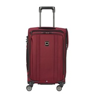 DELSEY Paris Delsey Luggage Titanium Soft Expandable 21 Inch Spinner, Black Cherry Red