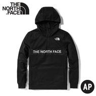 《低溫特報》【The North Face 男 LOGO半襟刷毛帽T《黑》】4U5K/保暖休閒大學T/連帽上衣/休閒長袖