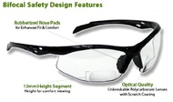 Philips Safety Glasses SB-9000 PS Clear, +2.50 by KRT Distributions