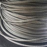 「仁誠五金」附發票! 正304白鐵鋼索 4mm 7x7 台灣製造 鋼索繩 不鏽鋼鋼索 ST鋼索