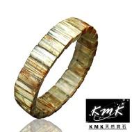 【KMK天然寶石】48.5g(滿絲直絲天然鈦晶-手排)