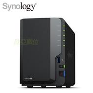 群暉 Synology DS220+ 網路儲存伺服器 (2Bay/Intel Celeron J4025 雙核/DDR4 2G/USB 3.0 *2/熱插拔/2年保)