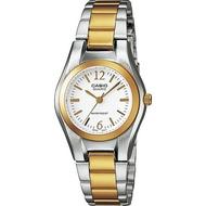 Casio นาฬิกาข้อมือผู้หญิง สองกษัตริย์ สายสแตนเลส รุ่น LTP-1253SG ของแท้ประกันศูนย์ CMG
