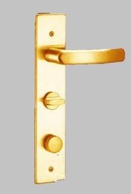 COE E-325 四角面板(鈦金) 內轉五段匣式連體鎖(左) 附暗閂 護套式葉片鑰匙 連體水平鎖 防盜鎖