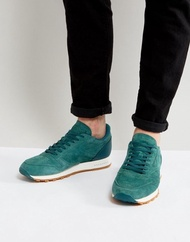 Reebok Classic Leather Gum Sole Sneakers In Green BD 6014