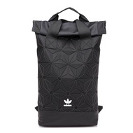 Adidas_Fashion Trendy Clover Bag Urban Backpack 3D Classic Rhombic Geometric Backpack Double Shoulder Bag Outdoor Sports Tourist Bag Backpack black
