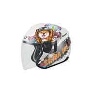 M2R FR-1 12 半罩 安全帽 雙層鏡片 雙D扣 內襯全可拆 3/4 半罩 安全帽 柴犬