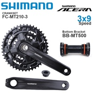 SHIMANO ACERA M3000 3x9 Speed Groupset with MT210  CRANKSET and DEORE T6000 BB-MT500 Bottom Bracket