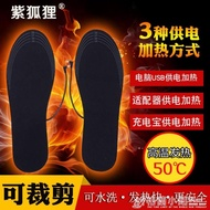USB插電加熱鞋墊電暖電熱鞋墊暖腳墊充電發熱可行走可洗男女通用 樂樂百貨
