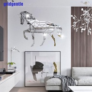 Gt. Animal Horse Stereo Acrylic Mirror Wall Sticker TV Background Wall Decoration