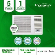 Everest 1.0 HP Window Type Inverter Aircon With Remote Control