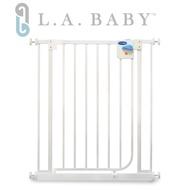 【 L.A. Baby】加高加寬-安全自動上鎖幼兒鐵圍欄/門欄 / 寵物柵欄(贈兩片延伸件)