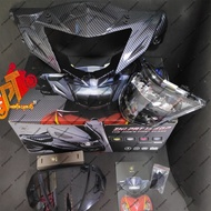 Yamaha LC 135 V1 Zhipat Head Lamp 100% Original Carbon Fiber Cover Visor 1Year Warranty -Ready STock