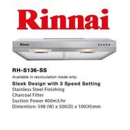 RINNAI RH-S136-SS 60CM SLIMLINE HOOD