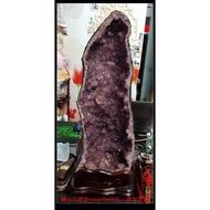 【巴西】紫水晶晶洞25.21公斤【帶鈦金、帶方解石俗稱方糖】