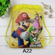 24Pcs Super Mario Brosธีมปาร์ตี้วันเกิดของขวัญNon-Wovenสายรัดถุงใส่ของเด็กโปรดปรานโรงเรียนเดินทางกระเป๋าเป้สะพายหลัง