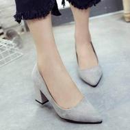 ✨✨ คัชชูหัวแหลมส้นสูงผู้หญิง รองเท้าส้นสูงแฟชั่นขายดี รองเท้าคัชชูส้นสูง 3 นิ้ว สีเทา / สีดำ / สีแดง ✨✨